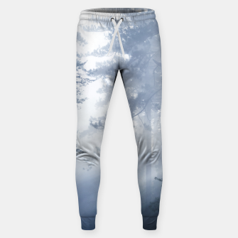 Thumbnail image of Sun rays shinning through foggy forest Sweatpants, Live Heroes