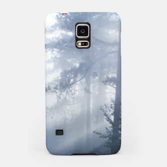 Thumbnail image of Sun rays shinning through foggy forest Samsung Case, Live Heroes