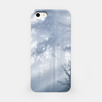 Thumbnail image of Sun rays shinning through foggy forest iPhone Case, Live Heroes