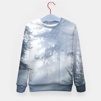 Thumbnail image of Sun rays shinning through foggy forest Kid's sweater, Live Heroes