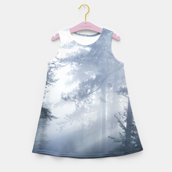 Thumbnail image of Sun rays shinning through foggy forest Girl's summer dress, Live Heroes