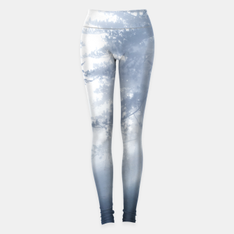 Thumbnail image of Sun rays shinning through foggy forest Leggings, Live Heroes