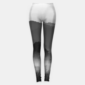 Thumbnail image of Fog rolling through valley in black and white Leggings, Live Heroes