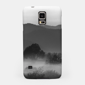 Thumbnail image of Fog rolling through valley in black and white Samsung Case, Live Heroes