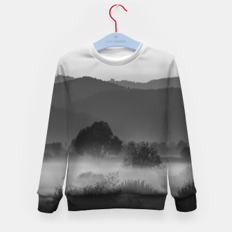 Thumbnail image of Fog rolling through valley in black and white Kid's sweater, Live Heroes