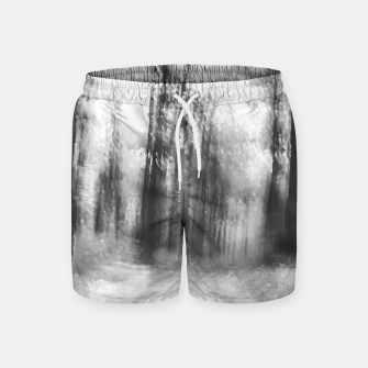 Miniatur Lost in the woods - abstract infrared photograph Swim Shorts, Live Heroes