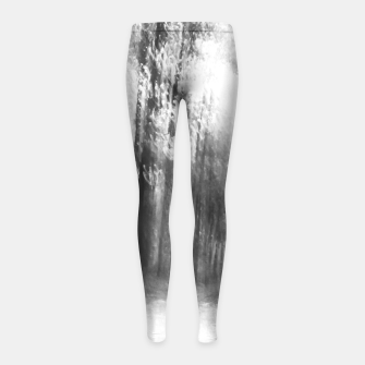 Miniatur Lost in the woods - abstract infrared photograph Girl's leggings, Live Heroes