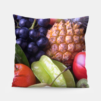 Thumbnail image of Tropical Exotic Fruits Pillow, Live Heroes