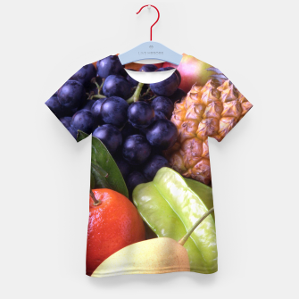 Thumbnail image of Tropical Exotic Fruits Kid's t-shirt, Live Heroes