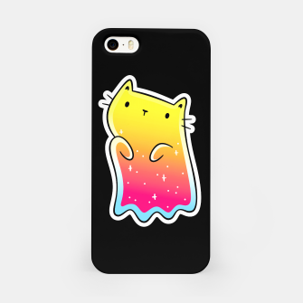 Miniatur Spooky Cute Colorful Ghost Cat, Halloween, Kawaii iPhone Case, Live Heroes