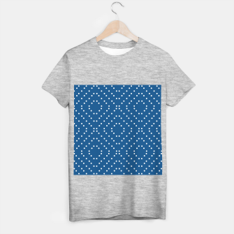 Miniature de image de Geometric dots on classic blue T-shirt regular, Live Heroes