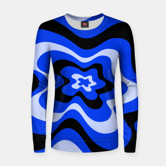 Thumbnail image of Abstract pattern - blue. Women sweater, Live Heroes