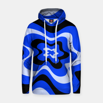 Thumbnail image of Abstract pattern - blue. Hoodie, Live Heroes