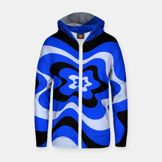 Thumbnail image of Abstract pattern - blue. Zip up hoodie, Live Heroes
