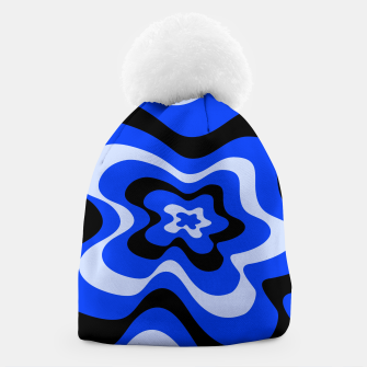 Thumbnail image of Abstract pattern - blue. Beanie, Live Heroes