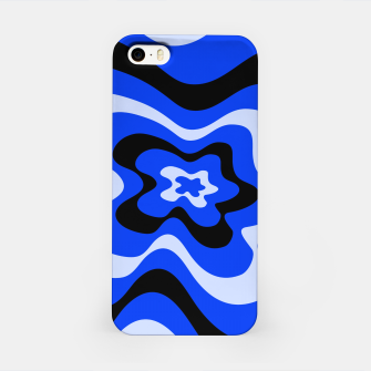 Thumbnail image of Abstract pattern - blue. iPhone Case, Live Heroes