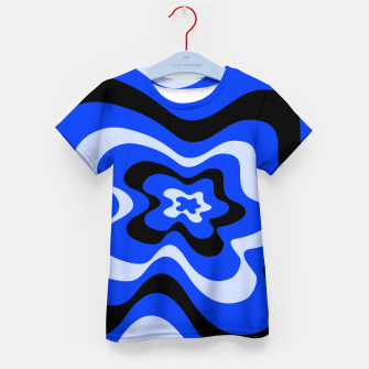 Thumbnail image of Abstract pattern - blue. Kid's t-shirt, Live Heroes