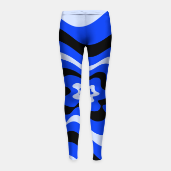 Thumbnail image of Abstract pattern - blue. Girl's leggings, Live Heroes