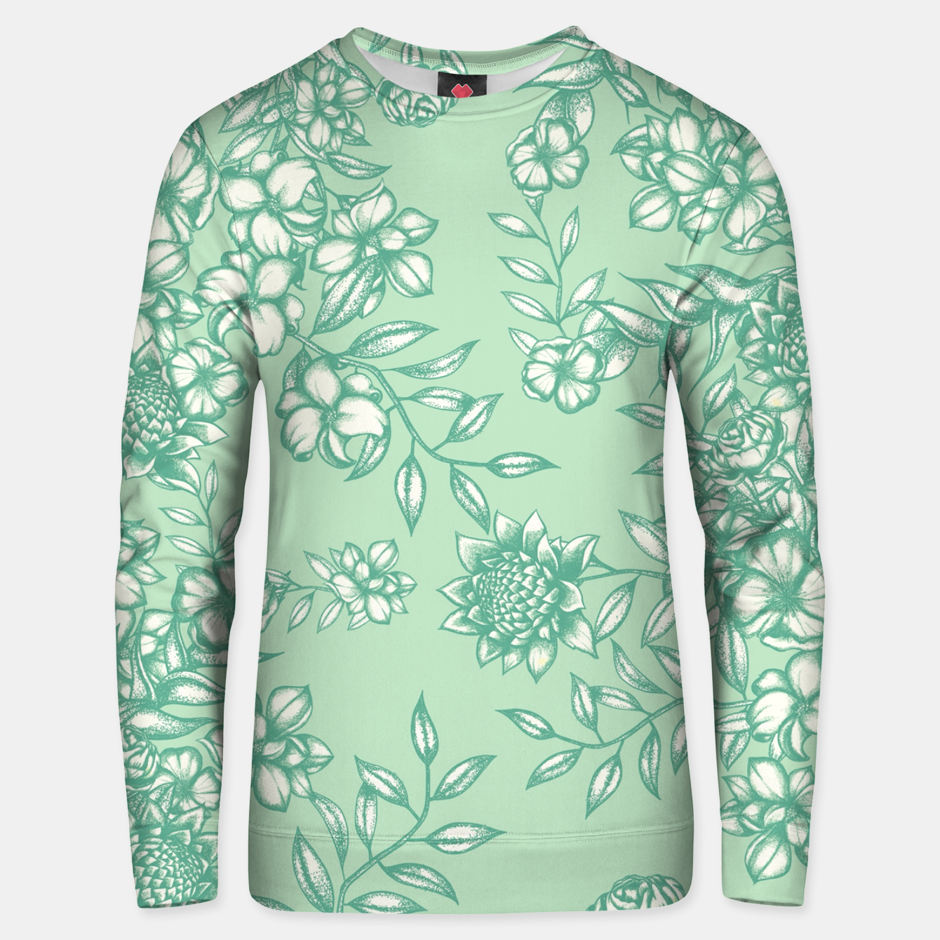 Foto Blue Flowers Unisex sweater - Live Heroes