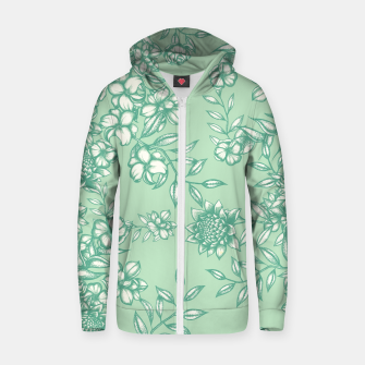 Blue Flowers Zip up hoodie Bild der Miniatur