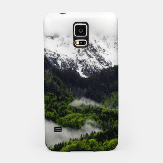 Thumbnail image of Fog rolling through forest below mountains Samsung Case, Live Heroes