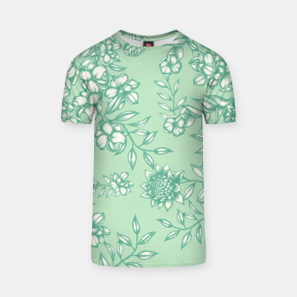 Thumbnail image of Blue Flowers T-shirt, Live Heroes