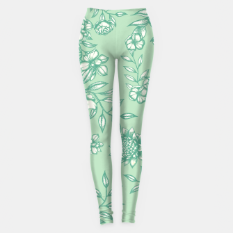 Blue Flowers Leggings Bild der Miniatur
