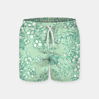 Miniatur Blue Flowers Swim Shorts, Live Heroes
