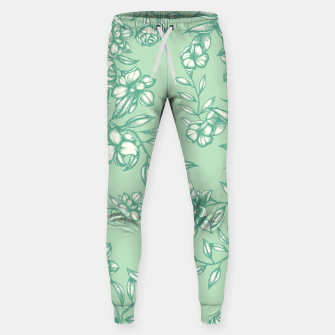 Blue Flowers Sweatpants Bild der Miniatur
