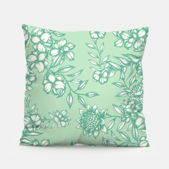Blue Flowers Pillow Bild der Miniatur