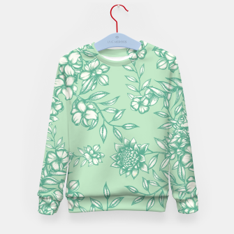 Thumbnail image of Blue Flowers Kid's sweater, Live Heroes