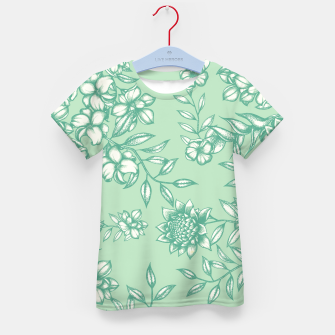 Thumbnail image of Blue Flowers Kid's t-shirt, Live Heroes