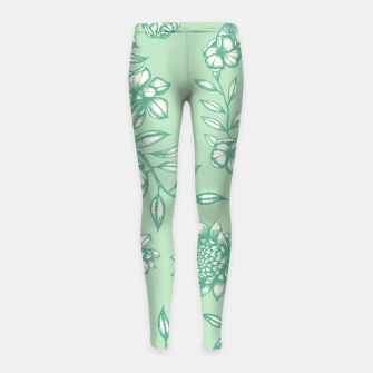 Thumbnail image of Blue Flowers Girl's leggings, Live Heroes