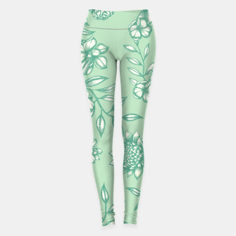 Miniatur Blue Flowers Leggings, Live Heroes