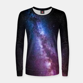 Thumbnail image of Milky way bright colors Women sweater, Live Heroes