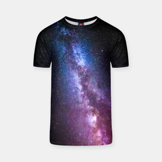 Thumbnail image of Milky way bright colors T-shirt, Live Heroes
