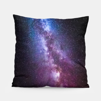 Thumbnail image of Milky way bright colors Pillow, Live Heroes