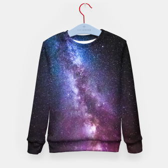 Thumbnail image of Milky way bright colors Kid's sweater, Live Heroes