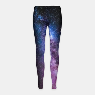 Thumbnail image of Milky way bright colors Girl's leggings, Live Heroes