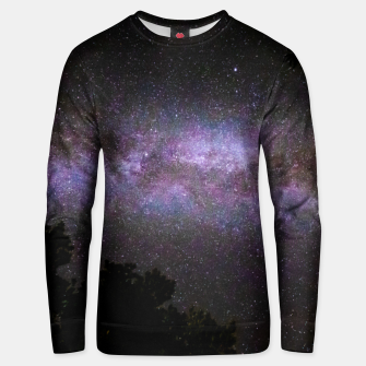 Miniatur Milky way with trees silhouette Unisex sweater, Live Heroes