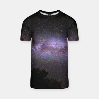 Thumbnail image of Milky way with trees silhouette T-shirt, Live Heroes