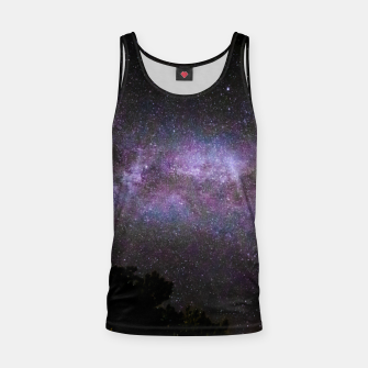 Miniatur Milky way with trees silhouette Tank Top, Live Heroes