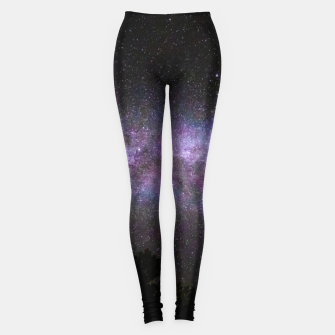 Miniatur Milky way with trees silhouette Leggings, Live Heroes