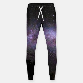 Miniatur Milky way with trees silhouette Sweatpants, Live Heroes