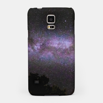 Miniatur Milky way with trees silhouette Samsung Case, Live Heroes