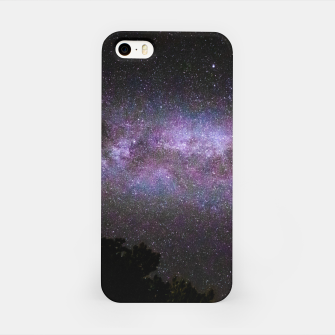 Miniatur Milky way with trees silhouette iPhone Case, Live Heroes