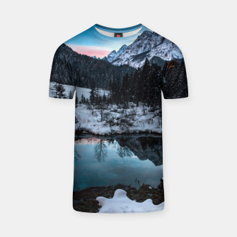 Thumbnail image of Zelenci springs at dusk T-shirt, Live Heroes
