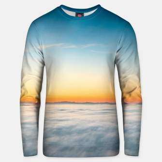 Thumbnail image of Magical sunrise above clouds Unisex sweater, Live Heroes