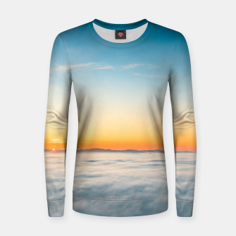 Thumbnail image of Magical sunrise above clouds Women sweater, Live Heroes