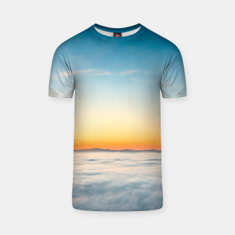 Thumbnail image of Magical sunrise above clouds T-shirt, Live Heroes
